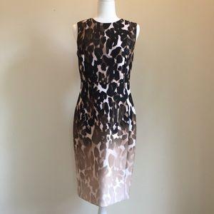 Calvin Klein leopard print sheath dress size 8
